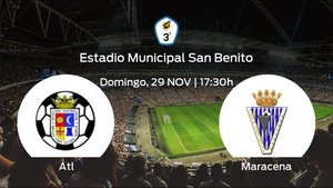 Previa del partido: el Atletico Porcuna recibe al Unión Deportiva Maracena en la séptima jornada