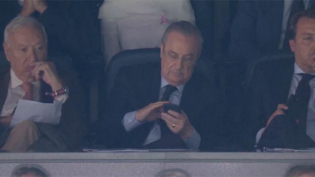 ¿Qué buscaba Florentino en su móvil? La curiosa imagen del presidente