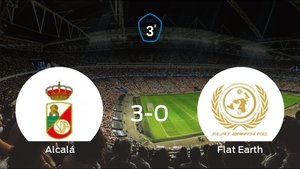 El RAlcalá se lleva la victoria tras golear 3-0 al Flat Earth