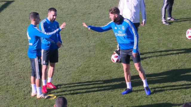 Ramos y Lucas se juegan el rondo a piedra papel o tijera antes del duelo copero
