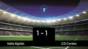 Reparto de puntos entre el Valle Egüés y el Cortes, el marcador final fue 1-1