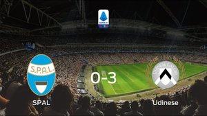 El Udinese golea 0-3 en el domicilio del SPAL