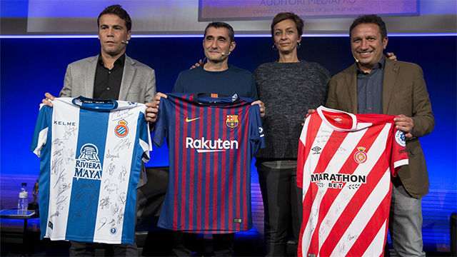 Valverde, Rubi y Eusebio Sacristán homenajean a Cruyff