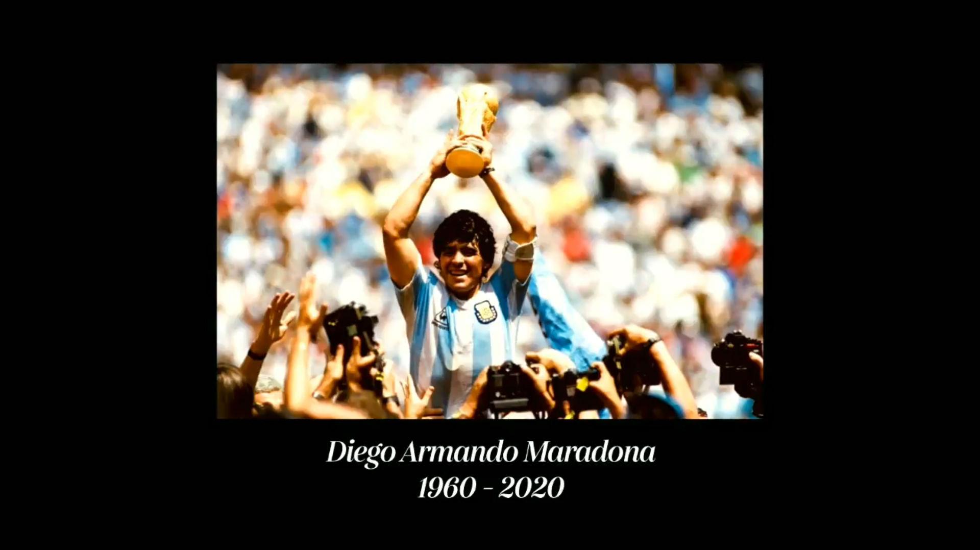 El vídeo homenaje definitivo a Maradona. No veremos nada igual