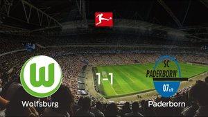 El Wolfsburg y el Paderborn se reparten los puntos tras empatar 1-1