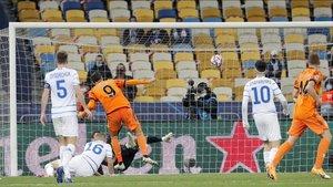 Álvaro Morata fue decisivo frente al Dinamo de Kiev