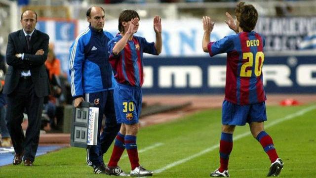 Así fue el debut de Messi en partido oficial