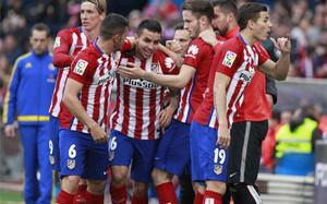El Atlético sufrió, pero acabó ganando