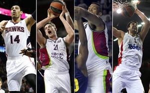 Ayon, Pleiss, Hamilton y Shermadini, candidatos a ocupar la posición de pívot en el Barça