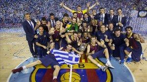 El Barça ganó su última Liga Endesa en 2014 con Xavi Pascual