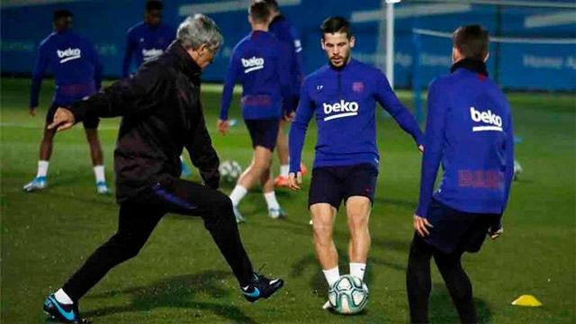 El FC Barcelona prepara el primer partido de Liga de Setién ante el Granada
