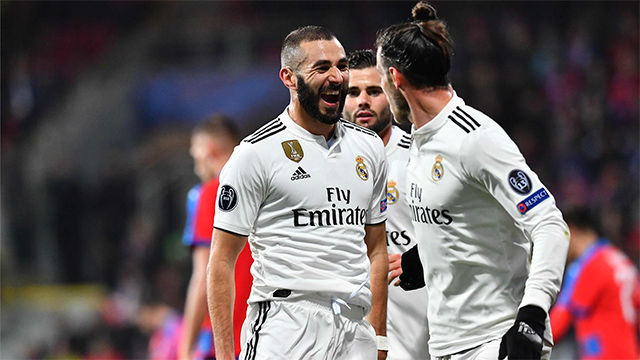 Benzema volvió a reencontrarse con el gol tras un doblete ante el Viktoria Plzen