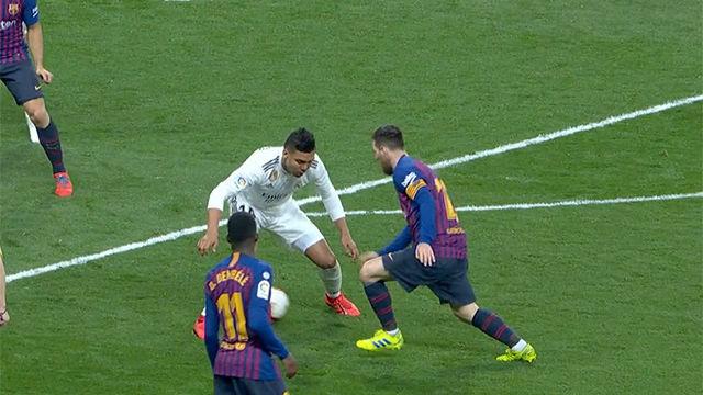 El caño de Messi que dejó sin reacción a Casemiro
