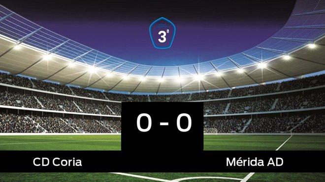 El Coria y el Mérida AD empatan (0-0)
