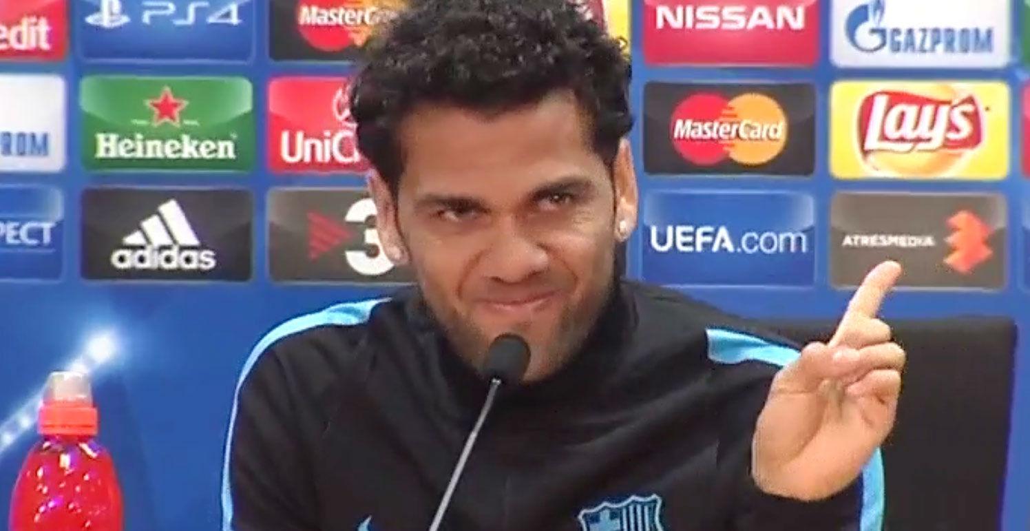 Dani Alves vetó a la prensa en noviembre
