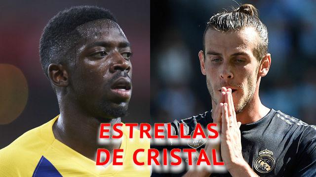 Dembélé vs Bale: El galés se lesiona menos y marca más