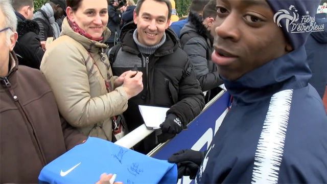 Dembélé, feliz junto a Mbappé con Francia