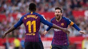 Dembélé y Messi van a por todas