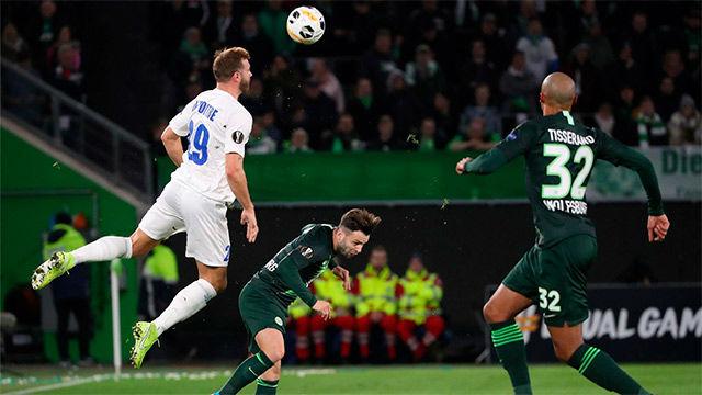 Depoitre hizo el gol de la remontada ante el Wolfsburgo