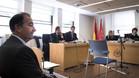 Eduardo Fernández de Blas,durante la vista por la demanda presentada por un grupo de socios contra el club por el cambio de estatutos respecto a los requisitos para ser presidente el 22 de noviiembre de 2015