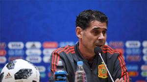 Fernando Hierro se mostró esperanzado con el partido ante Rusia