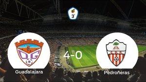 El Guadalajara consigue la victoria ante el Pedroñeras con una goleada (4-0)