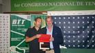 Jordi Arrese y Joan Carles Pradell, presidente del CE Valldoreix