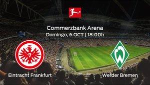 Jornada 7 de la Bundesliga: previa del duelo Eintracht Frankfurt - Werder Bremen