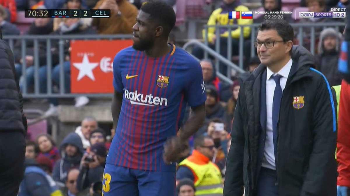 LALIGA | FC Barcelona - Celta (2-2): La lesión de Umtiti