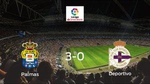 Las Palmassuma tres puntos tras golear al Deportivo en casa (3-0)