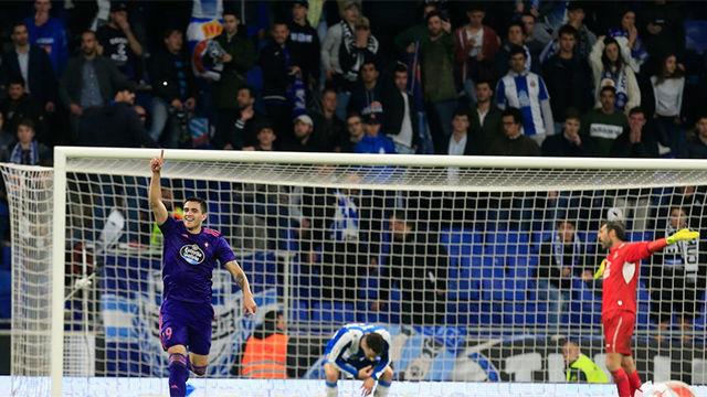 Maxi Gómez dio un punto al Celta ante el Espanyol
