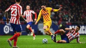 Messi firmó el gol de la victoria del Barça en el Wanda