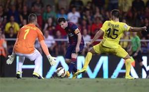 Messi jugó todo el partido en Villarreal
