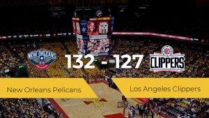 New Orleans Pelicans se hace con la victoria en el Smoothie King Center contra Los Angeles Clippers por 132-127