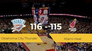 Oklahoma City Thunder logra la victoria frente a Miami Heat por 116-115