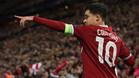 Philippe Coutinho, jugador del Liverpool, apunta al Barça