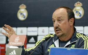 Rafa Benítez, entrenador del Real Madrid, en rueda de prensa