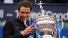 Rafa Nadal logró un emotivo triunfo en el Barcelona Open Banc Sabadell