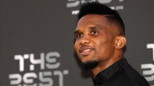 Samuel Etoo, durante la gala de The Best