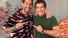 Sergio Ramos y Antonio Banderas exhiben una gran complicidad