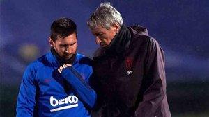 Setién habló sobre las palabras de Messi