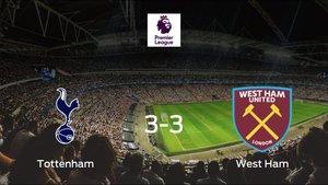 El Tottenham Hotspur y el West Ham empatan a tres en el Tottenham Hotspur Stadium