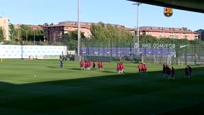 El último entrenamiento del Barça antes de medirse al Getafe