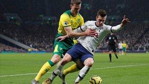 Zimmermann y Lo Celso, en el Tottenham - Norwich (2-1)