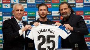 Adrián Embarba lucirá el dorsal número 25 a su espalda.