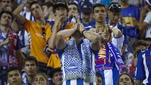 Aficionados durante un partido de LaLiga la pasada temporada