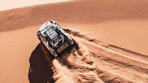 Al-attiyah, en acción en las dunas del Erg Chebbi