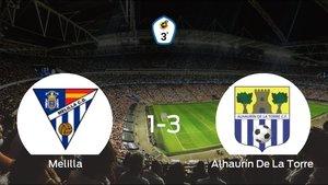 El Alhaurín De La Torre se lleva tres puntos a casa después de ganar 1-3 al Melilla CD