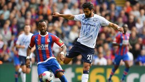 André Gomes, antes de caer lesionado ante el Crystal Palace.