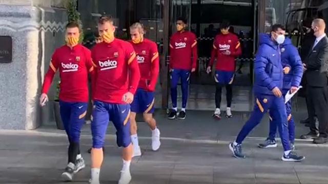 Así ha sido la salida matinal del FC Barcelona del hotel